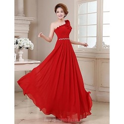 Australia Formal Dress Evening Gowns Ruby Plus Sizes Dresses A-line Sexy One Shoulder Long Floor-length Georgette