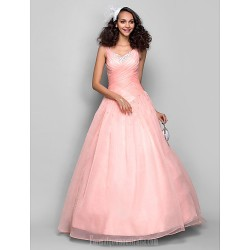 Prom Gowns Australia Formal Dress Evening Gowns Pearl Pink Plus Sizes Dresses Petite Ball Gown Straps Long Floor-length Organza