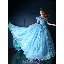 Australia Formal Dress Evening Gowns Pool Petite Ball Gown V-neck Chapel Train Organza Tulle Charmeuse