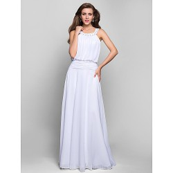 Australia Formal Dress Evening Gowns Prom Gowns Military Ball Dress White Plus Sizes Dresses Petite A-line Jewel Long Floor-length Chiffon