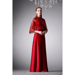 Australia Formal Dress Evening Gowns Ruby Lavender A-line High Neck Long Floor-length Satin