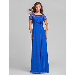 Long Floor Length Chiffon Bridesmaid Dress Royal Blue Plus Sizes Dresses Petite A Line Square
