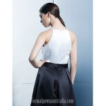 Australia Formal Dress Evening Gowns Multi-color A-line Jewel Asymmetrical Satin Formal Dress Australia