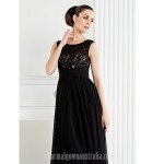 A-line Plus Sizes Dresses Petite Mother of the Bride Dress Black Long Floor-length Sleeveless Chiffon Lace Formal Dress Australia