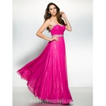 Australia Formal Dress Evening Gowns Fuchsia A-line Sweetheart Ankle-length Chiffon Formal Dress Australia