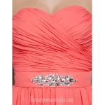 Australia Formal Dress Evening Gowns Prom Gowns Military Ball Dress Watermelon Plus Sizes Dresses Petite A-line Princess Strapless Sweetheart Long Floor-length Chiffon Formal Dress Australia