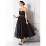 Australia Formal Dress Evening Gowns Black Plus Sizes Dresses Petite A-line Princess Sweetheart Tea-length Tulle Formal Dress Australia