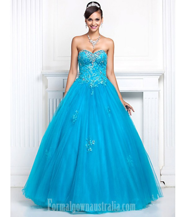 Prom Gowns Australia Formal Dress Evening Gowns Quinceanera Sweet 16 Dress Pool Plus Sizes Dresses Petite A-line Princess Sweetheart Strapless Long Floor-length Formal Dress Australia