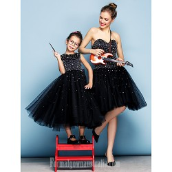 Australia Formal Dress Evening Gowns Black Plus Sizes Dresses Petite Ball Gown Sweetheart Short Knee-length Tulle