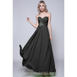 Long Floor-length Chiffon Bridesmaid Dress Black Lime Green Fuchsia Daffodil Burgundy Royal Blue Silver Pool Ruby Regency
