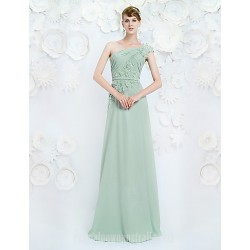Australia Formal Dress Evening Gowns Clover A-line Sexy One Shoulder Long Floor-length Chiffon