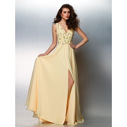 Prom Gowns Australia Formal Dress Evening Gowns Daffodil Plus Sizes Dresses Petite A-line V-neck Long Floor-length Chiffon