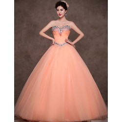 Australia Formal Dress Evening Gowns Orange Petite Ball Gown Sweetheart Long Floor Length Satin Tulle Polyester