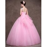 Australia Formal Dress Evening Gowns Candy Pink Petite Ball Gown Sweetheart Long Floor-length Satin Tulle Stretch Satin Formal Dress Australia