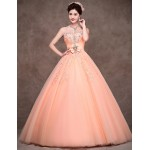 Australia Formal Dress Evening Gowns Orange Petite Ball Gown Strapless Long Floor-length Satin Tulle Polyester Formal Dress Australia