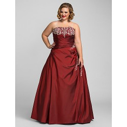 Prom Gowns Australia Formal Dress Evening Gowns Quinceanera Sweet 16 Dress Burgundy Plus Sizes Dresses Petite Ball Gown A-line Princess Strapless Long Floor-length