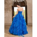 Prom Gowns Australia Formal Dress Evening Gowns Quinceanera Sweet 16 Dress Ocean Blue Plus Sizes Dresses Petite Princess A-line Ball Gown Strapless Long Floor-length Formal Dress Australia