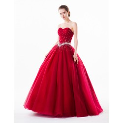 Australia Formal Dress Evening Gowns Burgundy Petite Ball Gown Sweetheart Long Floor-length Organza Tulle Charmeuse