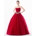 1d6d5c8fd3e15 ... Australia Formal Evening Dress Burgundy Petite Ball Gown Sweetheart  Long Floor-length Organza Tulle Charmeuse ...
