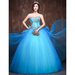 Australia Formal Dress Evening Gowns Pool Petite Ball Gown Sweetheart Long Floor-length Satin Tulle Polyester