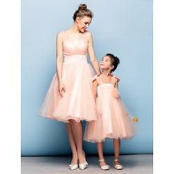 Australia Cocktail Party Dress Pearl Pink Plus Sizes Dresses Petite Ball Gown Straps Short Knee-length Organza Tulle