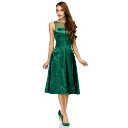 Australia Cocktail Party Dress Dark Green A-line Scoop Short Knee-length Charmeuse
